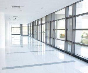 Commercial Building hallway white