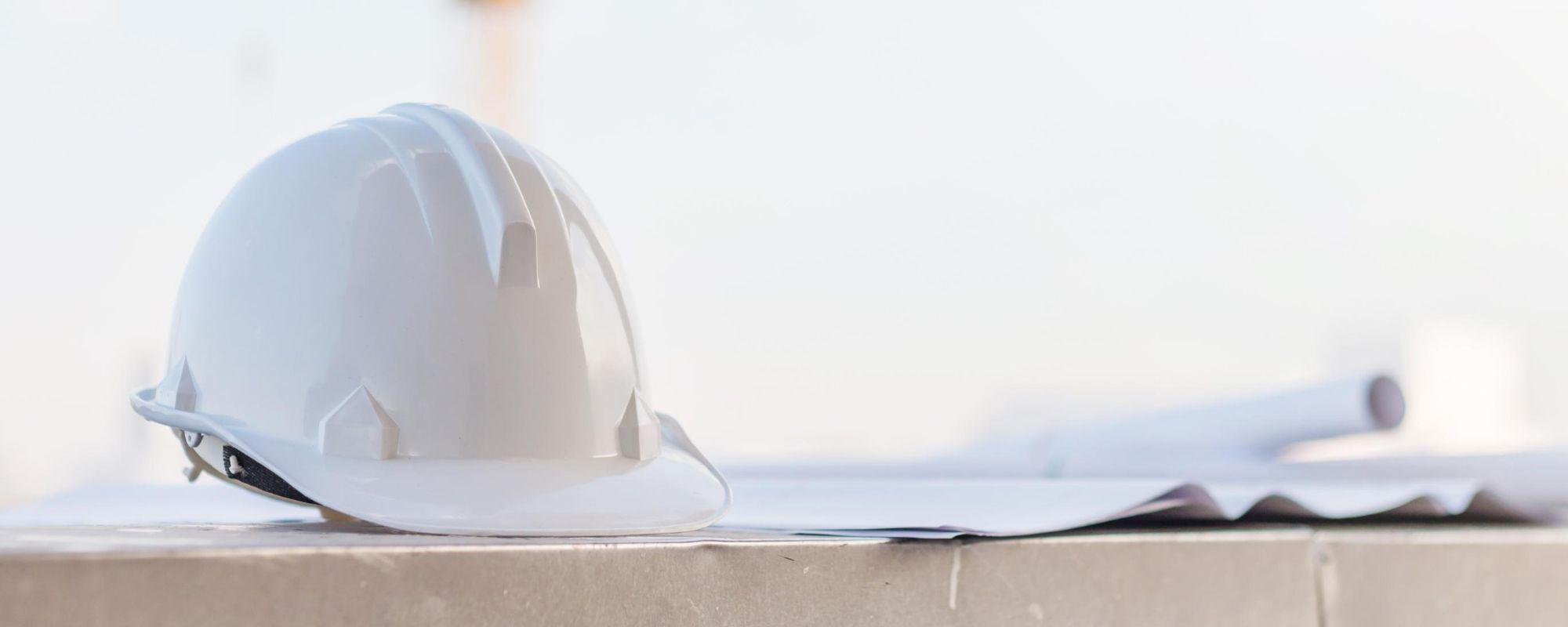Safety Helmet on Light Background